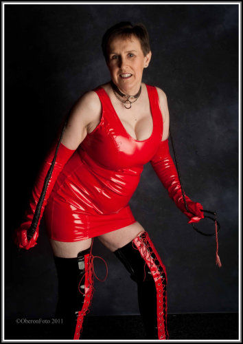 Allison - Red PVC Mistress dress