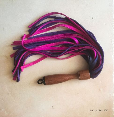 Pink and Purple Full Grain Flooger from Jack's Floggers