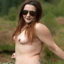 Lou - Nude in the Scottish countryside