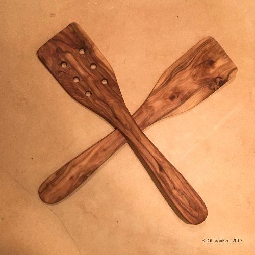 Greek olive wood spoons