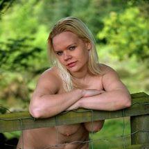Jas - Fence nude