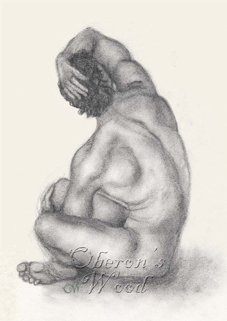 'Charcoal Male Nude Reversed'