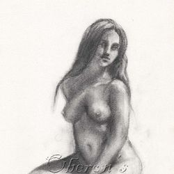 'Charcoal Female Nude'