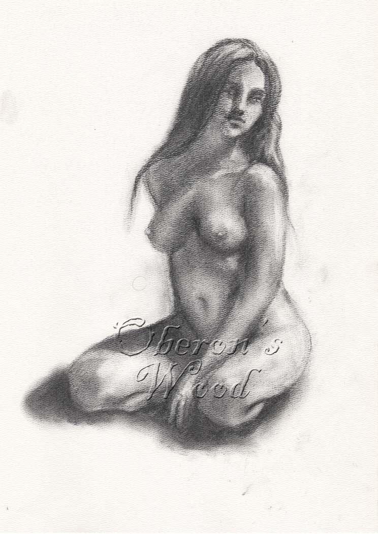 'Charcoal Female Nude'