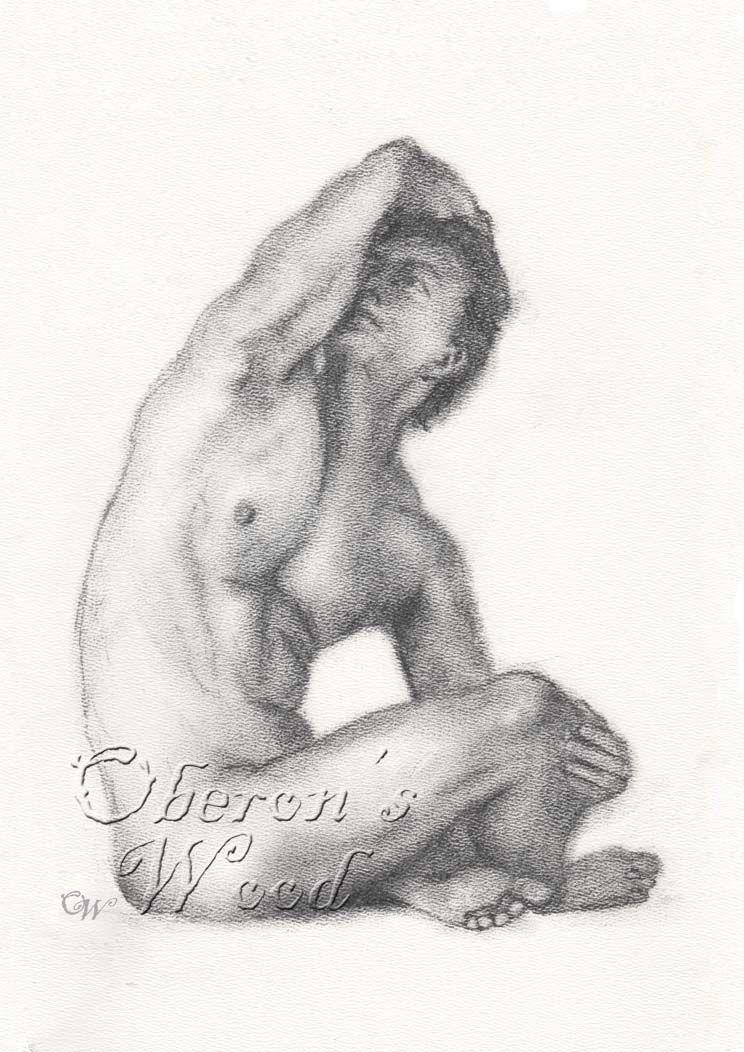 'Charcoal Male Nude'