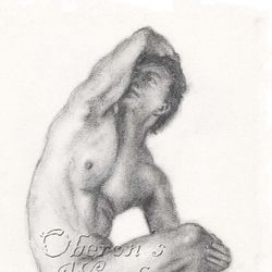 'Charcoal Male Nude'
