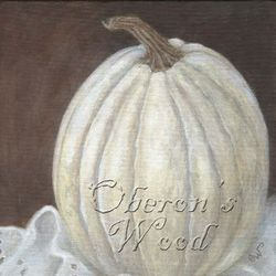 'Broderie Anglaise with White Pumpkin'