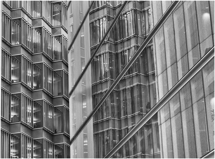Office block detail and reflection