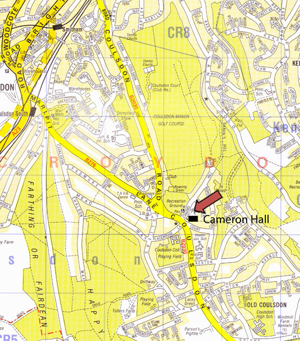 How to get to Cameron Hall