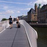 Stroll across the bridge