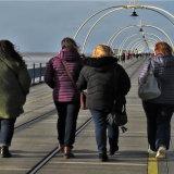 Walking Along Southport Pier