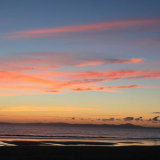 Sunset over Harlech Beach