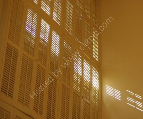 Sunlight through Shutters