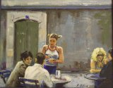 Lunchtime, La Rochelle        (this work is for sale £75)