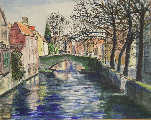 Bruges canal, winter