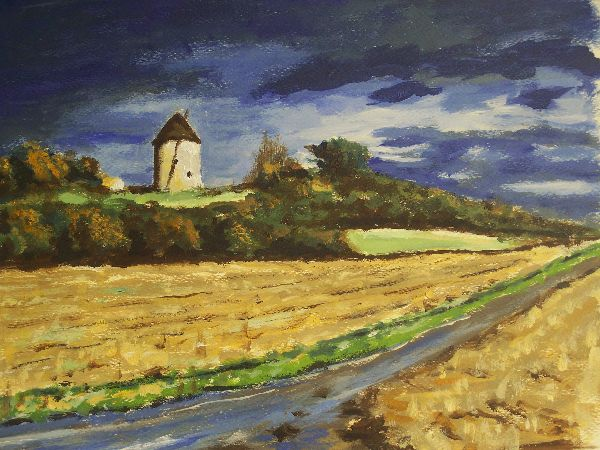 The Old Mill, Bordeaux     (this work is for sale £80)
