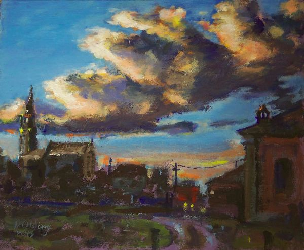 Evening clouds, Robbio  (this work is for sale £75)