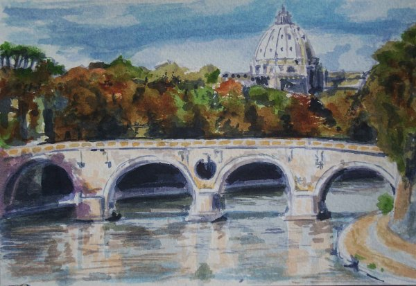 St Peter's from the river Tiber