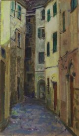 Narrow Street, Pontrimoli     (this work is for sale £70)