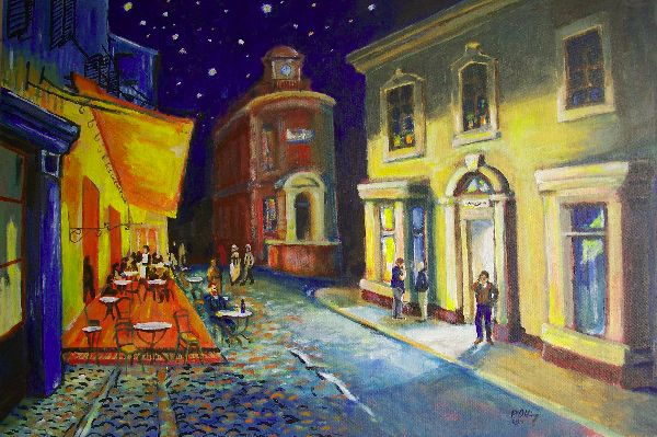 The Cafe Terrace at night, Bank Street