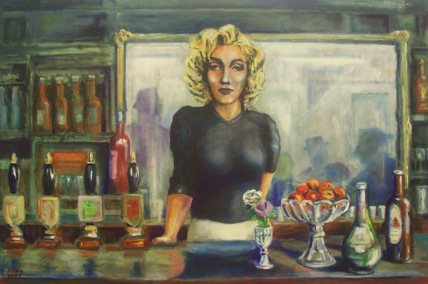 At the Bar    (this work for sale £150)