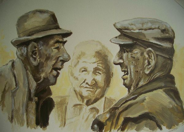 The Italians     (this work is for sale £70)