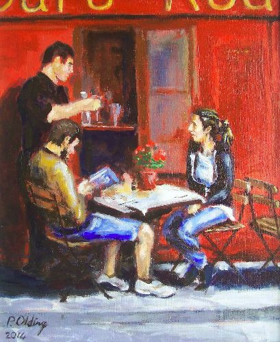 Cafe Rouge 2      (this work is for sale £70)