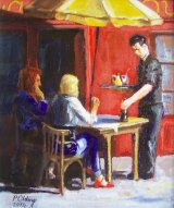 Cafe Rouge 1     (this work is for sale £70)
