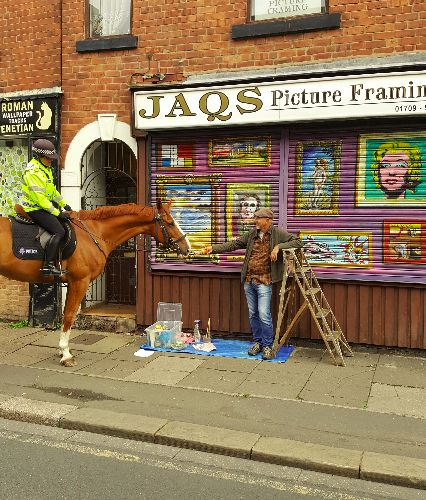 Painting in the street