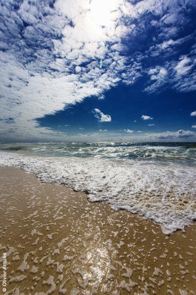Sky, sea, sun, sand, scum - Cap Ferret - France