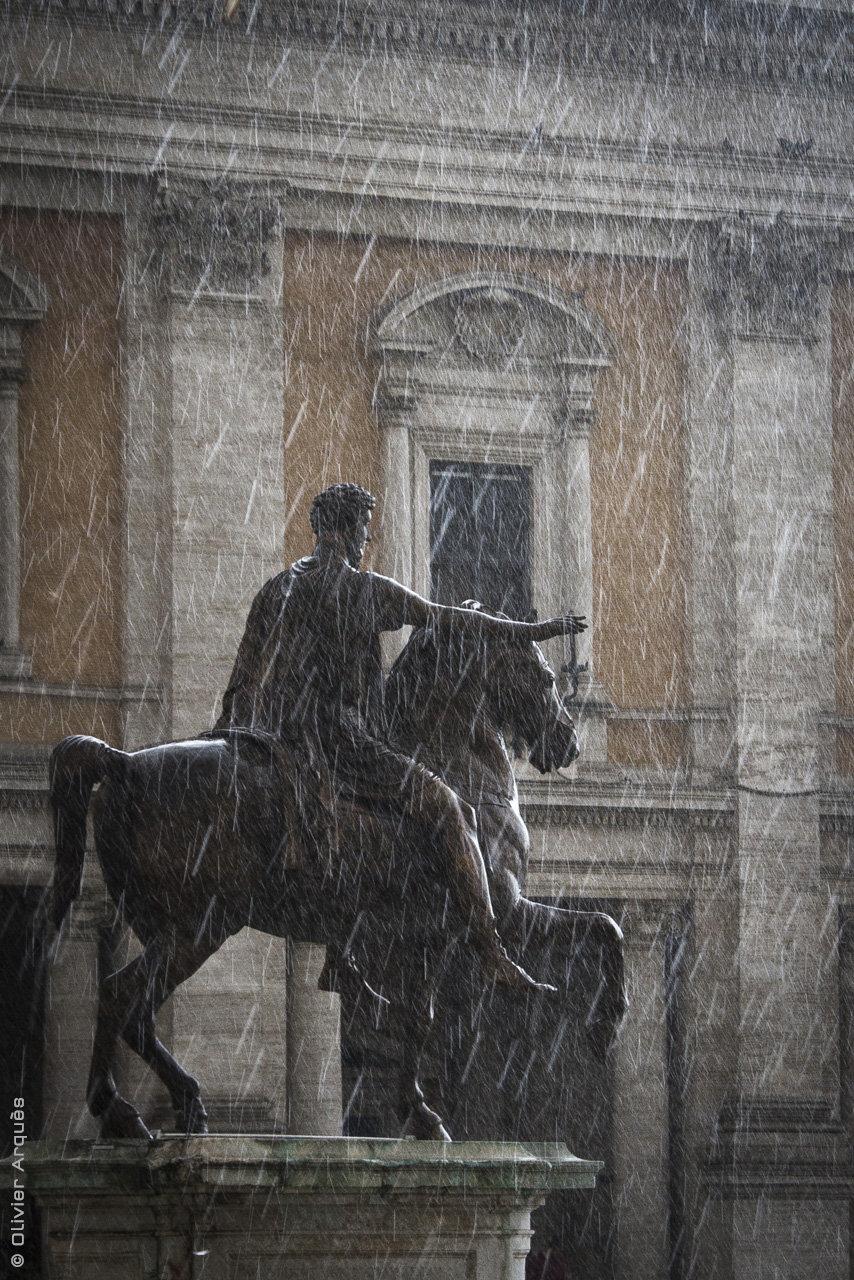 Marc Aurèle, Piazza del Campidoglio - Rome-Italie