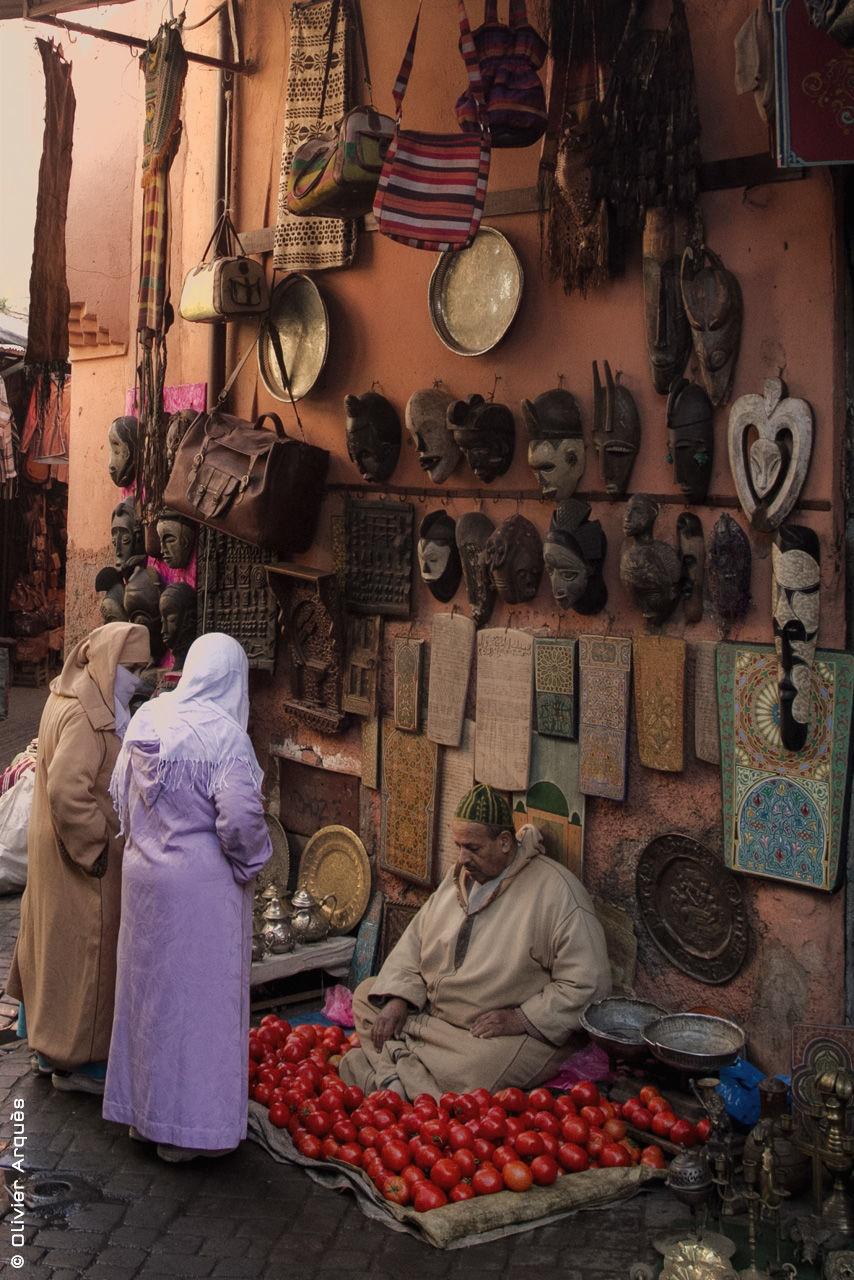 Tomato seller in Marrakech