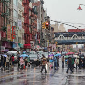 Chinatown in the Rain