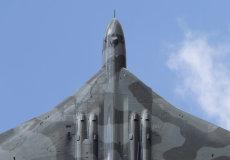 Vulcan climbing skywards