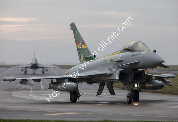 Typhoon pair taxiing