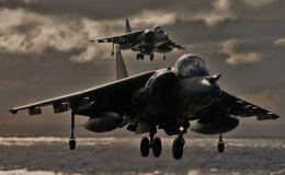 Hovering Harrier pair