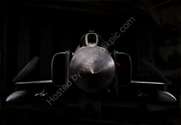 RAF F-4 Phantom in the shadows