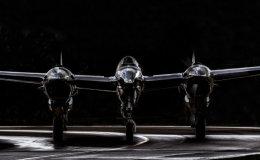 P-38 Lightning head-on