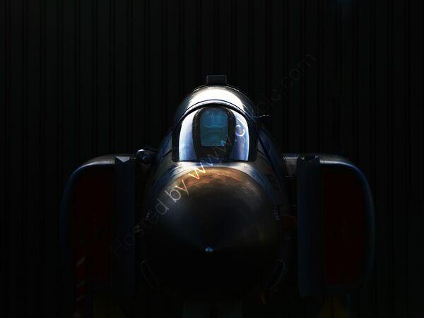 RAF Phantom XV490 in the shadows