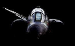 RAF Phantom XV490 head-on.