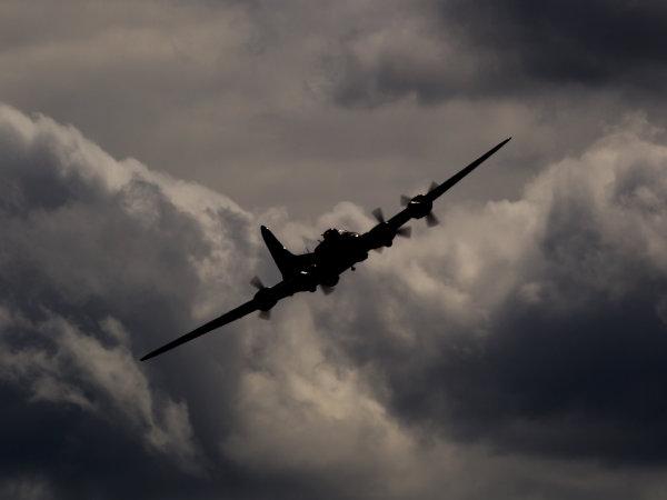 B-17 in the clouds