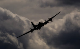 B-17 in the clouds
