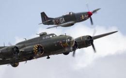B-17 and P-51 escort