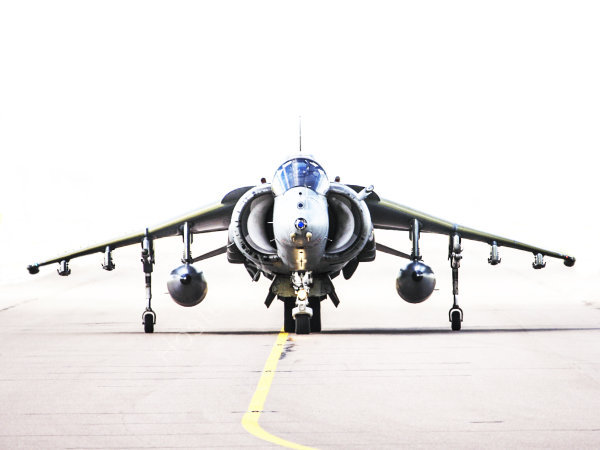 Harrier taxiing