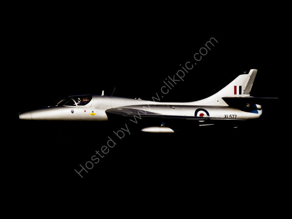 Hawker Hunter XL577 in the shadows