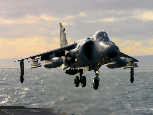 Sea Harrier last landing