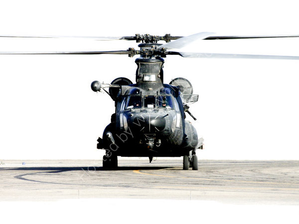 MH-47 Chinook head-on