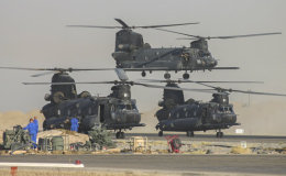 MH-47 Chinook trio