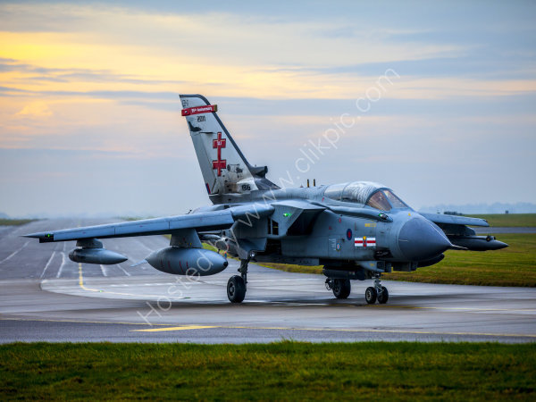 RAF 41 Squadron Tornado at dawn