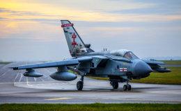 RAF 41 Squadron Tornado at dawn